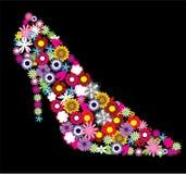 Floral shoe stock illustration