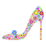 Floral shoe Stock Images