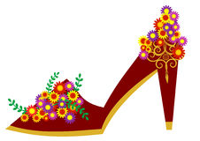 Floral shoe Stock Image