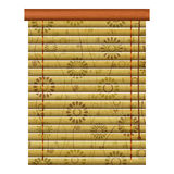 Floral shutter. New isolated icon of wooden venetian louvers can use like traditional object Stock Photos