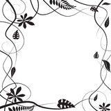 Floral silhouette Royalty Free Stock Photo