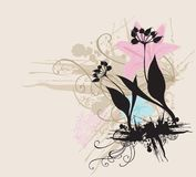 Floral silhouette Royalty Free Stock Photography