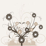 Floral silhouette, element for design. Illustration Stock Photos