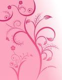 Floral silhouette girl Stock Photos