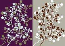 Floral silhouettes background Royalty Free Stock Images