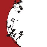 Floral silhuette illustration Royalty Free Stock Images