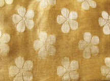 Floral silk fabric Stock Image