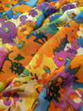 Floral silk fabric abstract Royalty Free Stock Images