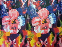 Floral silk fabric abstract Royalty Free Stock Photo