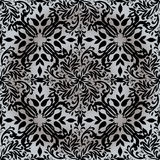 Floral silver repeat Stock Photos