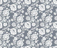 Floral silver seamless background Stock Photo