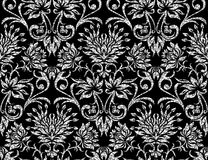 Floral silver wallpaper Royalty Free Stock Image