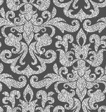 Floral silver wallpaper Stock Images