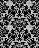 Floral silver wallpaper Royalty Free Stock Photos
