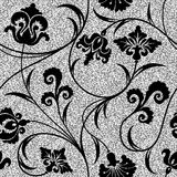 Floral silver wallpaper Royalty Free Stock Photography