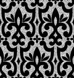 Floral silver wallpaper Stock Photos