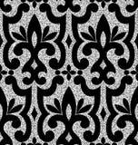 Floral silver wallpaper Stock Photos