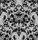 Floral silver wallpaper Stock Photography