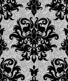 Floral silver wallpaper Royalty Free Stock Photo