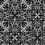 Floral silver wallpaper Royalty Free Stock Photos