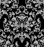 Floral silver wallpaper Stock Image