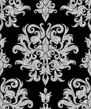 Floral silver wallpaper Stock Photo