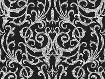 Floral silver wallpaper Royalty Free Stock Images