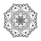 Floral simple mandala Stock Photography
