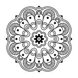 Floral simple mandala Royalty Free Stock Images