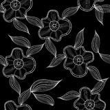 Floral simple pattern Stock Image
