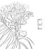 Floral sketch card Royalty Free Stock Photo