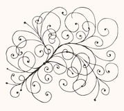 Floral sketch drawing for your design Stock Photo