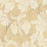 Floral sketch pattern. Flower seamless background. Flourish ornamental. Floral pattern. Flower seamless background. Flourish ornamental spring texture royalty free illustration