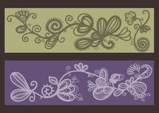 Floral sketches Royalty Free Stock Image