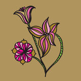 Floral sketches Royalty Free Stock Photography
