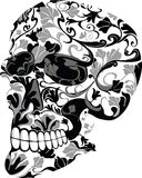 Floral skull. Vector illustration of skull consisting of flowers Stock Photo
