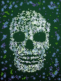 Floral skull design Royalty Free Stock Images