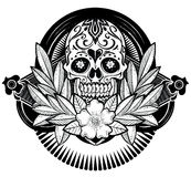 Floral Skull Royalty Free Stock Image