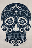 Floral skull fabric. Background of floral skull fabric royalty free stock photos