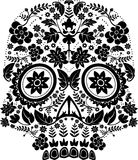 Floral skull pattern Royalty Free Stock Photos