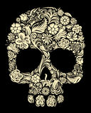 Floral skull Stock Photography