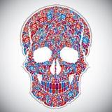 Floral skull vector illustration. Royalty Free Stock Image
