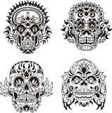 Floral skulls Stock Photo
