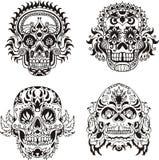 Floral skulls Stock Photo