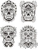 Floral skulls Stock Images