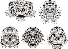 Floral skulls Royalty Free Stock Image