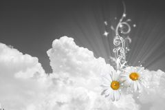 Floral sky background Royalty Free Stock Image