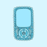 Floral smartphone with vintage flowers and doodles Royalty Free Stock Photography