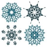 Floral snowflakes,  Royalty Free Stock Images