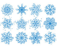 Floral snowflakes, vector Royalty Free Stock Photos
